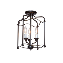 Artcraft CL1350BZ - Three Light Oil Rubbed Bronze Foyer Hall Semi-Flush Mount