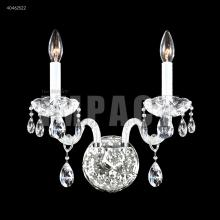 James R Moder 40462S22 - Palace Ice 2 Arm Wall Sconce