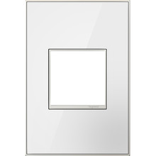 Legrand AWM1G2MWW4 - Mirror White-on-White,  1-Gang Wall Plate