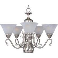 Maxim 11064MROI - Six Light Oil Rubbed Bronze Marble Glass Up Chandelier