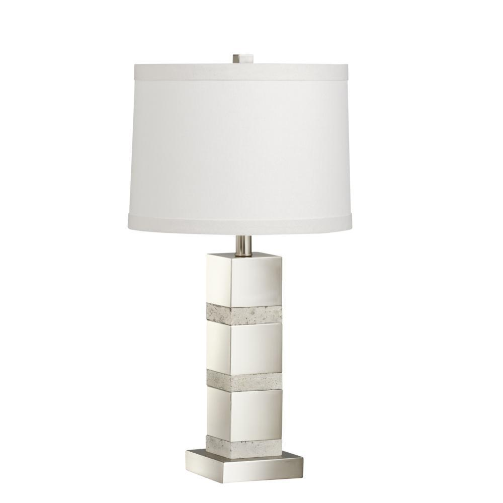 Beau One Light Brushed Nickel Table Lamp