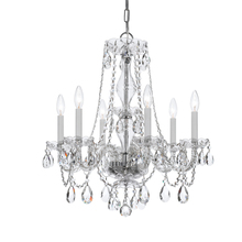 Crystorama 5086-CH-CL-MWP - Crystorama Traditional Crystal 6 Light Crystal Chrome Chandelier VI