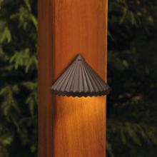 Kichler Landscape 15468AZT - One Light Textured Architectural Bronze Deck Light