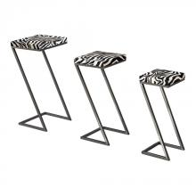 Sterling Industries 129-1030/S3 - SET OF 3 ZEBRA PRINT STACKING TABLES
