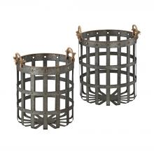 Sterling Industries 3129-1121/S2 - Caxton Baskets In Aged Iron With Gold Highlights