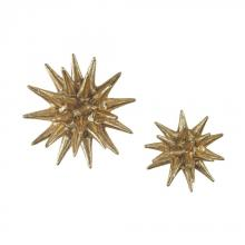 Sterling Industries 3138-263/S2 - Parsec Gold 4-6 Inch Composite Wall Decor In Gold