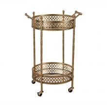 Sterling Industries 3200-031 - Banded Round Bar Cart