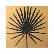 Sterling Industries 351-10169 - Palm Frond On Metallic Gold Wood