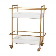 Sterling Industries 351-10182 - Kline Gold And White Bar Cart