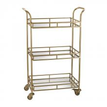 Sterling Industries 351-10184 - Gold Bar Cart
