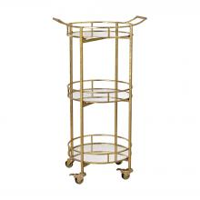 Sterling Industries 351-10208 - Gold Leaf Bar Cart