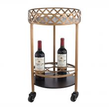 Sterling Industries 51-015 - Circular Quatrefoil Bar Cart