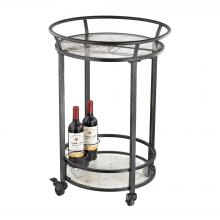 Sterling Industries 51-021 - World Map Bar Cart In Dark Bronze