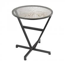 Sterling Industries 51-032 - Glass Topped Table With Map Design