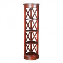 Sterling Industries 6500811 - Galloway Corner Shelves In Mahogany Stain Finish