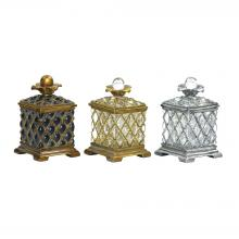 Sterling Industries 87-1145 - Assyrian Keepsake Boxes - Set of 3