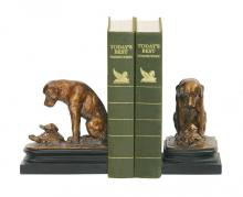 Sterling Industries 91-1452 - Turtle Under Study Bookends In Bronze And Wood Tone - Pair