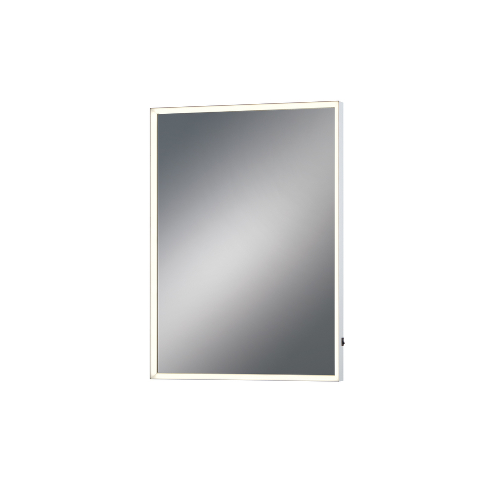 Small Rectangular Edge-Lit LED Mirror, 28 Inches High by 20 Inches Wide - Model 31478-014
