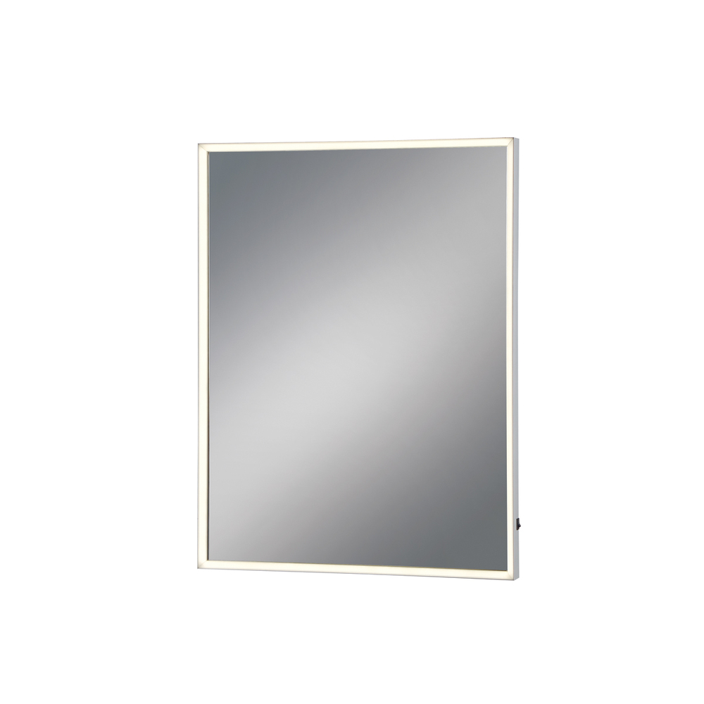 Medium Rectangular Edge-Lit LED Mirror, 32 Inches High by 24 Inches Wide - Model 31479-011