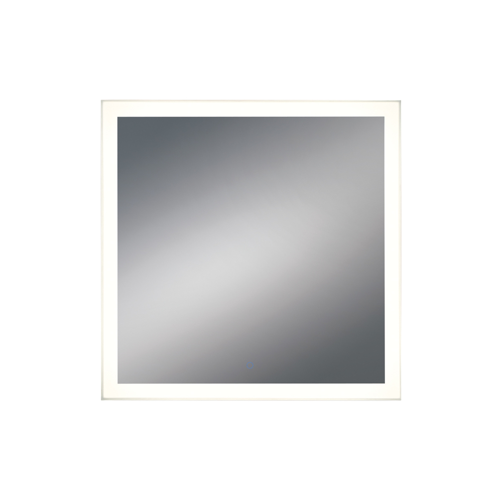 Square LED Mirror with Edge-Lit, Dimmable Touch Sensor, 32 Inches High by 32 Inches Wide - Model 314