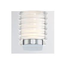 Eurofase Online 31789-011 - Ancona Opal Ribbed LED Wall Sconce, Chrome Finish, 5.25 Inches Wide - Model 31789-011