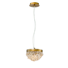Eurofase Online 31828-017 - Mondo Clustered Crystal Orb Chandelier, Antique Gold Finish, Cognac and Clear Crystals, 2 G9 Light B