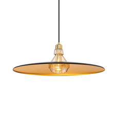 Eurofase Online 31867-023 - Legend Polished Metal Light Pendant with Crystal Detail, Gold Finish, Black with Gold Inside Shade,