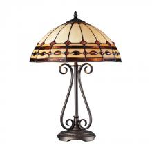 Dimond 70165-2 - Diamond Ring 2 Light Table Lamp In Burnished Copper