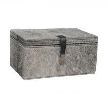 Dimond 8819-022 - Grey Hairon Leather Box - Small