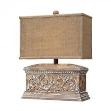 Dimond 93-10026 - Pinder Distressed Table Lamp in Corbel Finish With Burlap Shade