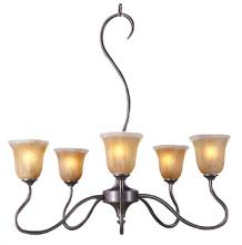 Framburg 9365 MB - Bronze Up Chandelier