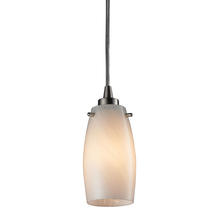 ELK Lighting 10223/1COC - Favelita 1 Light Pendant In Satin Nickel And Coc