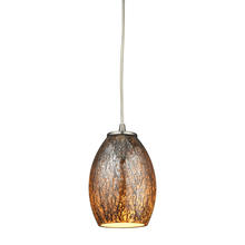 ELK Lighting 10256/1 - Venture 1 Light Pendant In Satin Nickel
