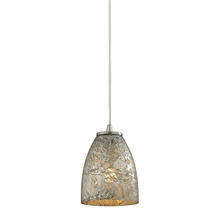 ELK Lighting 10465/1SVF - Fissure 1 Light Pendant In Satin Nickel And Silv