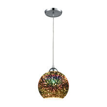 ELK Lighting 10517/1 - Illusions 1 Light Pendant In Polished Chrome Wit