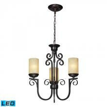 ELK Lighting 11511/3-LED - Three Light Aged Bronze Candle Chandelier