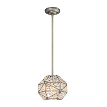 ELK Lighting 11835/1 - Constructs 1 Light Pendant In Weathered Zinc