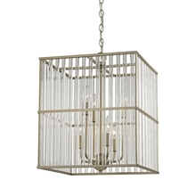 ELK Lighting 81097/6 - Ridley 6 Light Chandelier In Aged Silver With Ov