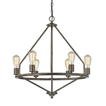 ELK Lighting 81175/6 - Galaway 6 Light Chandelier In Windswept Silver
