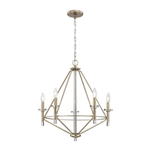 ELK Lighting 81202/5 - Lacombe 5 Light Chandelier In Aged Silver With C