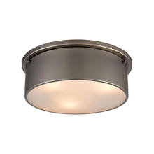 with Full Scale Flush Mount Elk Lighting 66141-2-LED Chadwick 2-Light Antique Copper-LED 1600 Lumens Total 800